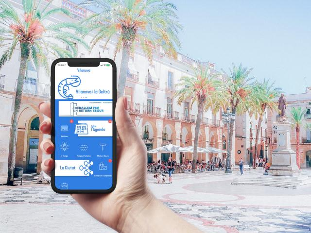 L'aplicació mòbil de Vilanova i la Geltrú permet contactar amb restaurants per fer comandes per emportar